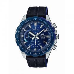 Reloj Casio Edifice Negro Azul Piel Crono EFR-566BL-2AVUEF