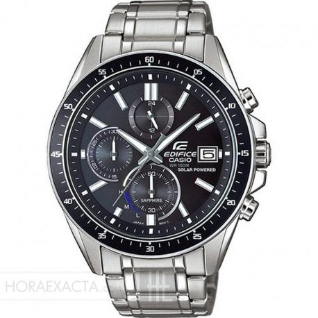 Reloj Casio Edifice Solar Crono Armis Acero Negro EFS-S510D-1AVUEF