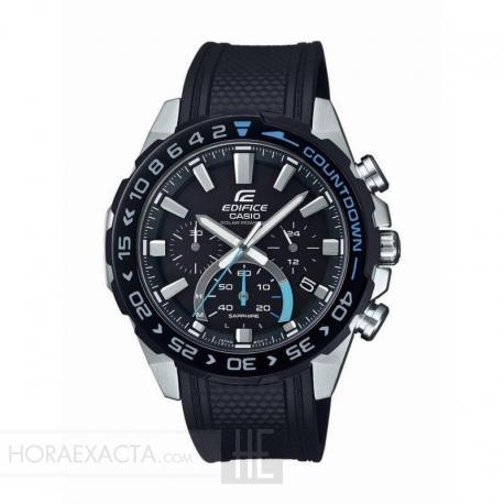 Reloj Casio Edifice Solar Crono Caucho Negro EFS-S550PB-1AVUEF