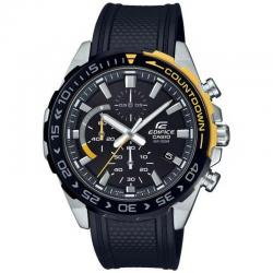 Reloj Casio Edifice Negro Amarillo Caucho Crono EFR-566PB-1AVUEF