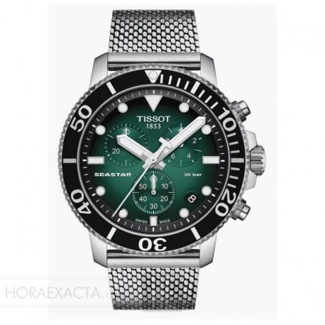 Reloj Tissot Seastar 1000 Chronograph Verde milanesa
