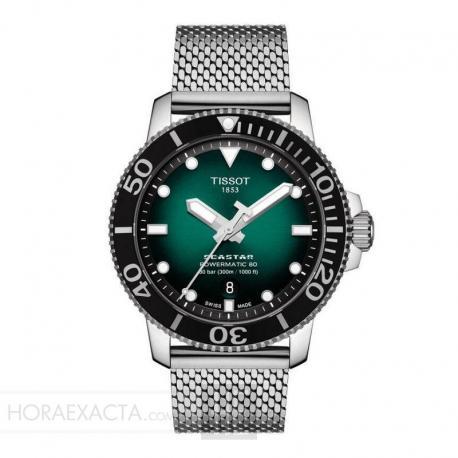 Reloj Tissot Seastar 1000 Powermatic 80 Verde milanesa