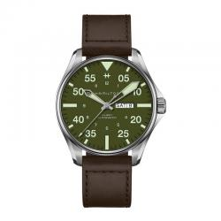Reloj Hamilton Khaki Aviation Pilot SCHOTT NYC Verde Piel Marrón Limited Edition