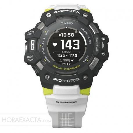 Reloj Casio G-Shock MONITOR DE FRECUENCIA CARDÍACA Y QUAD SENSOR Negro Blanco GBD-H1000-1A7ER