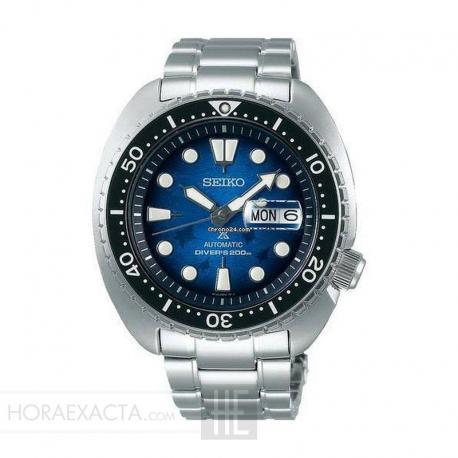 "Reloj Seiko Prospex ""Tortuga"" Auto Azul Armis Special Edition Save The Ocean Mantaraya 2020 45 mm. SRPE39K1"