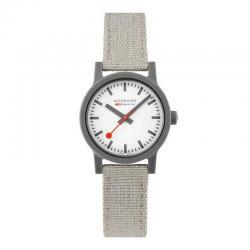 Reloj Mondaine SBB Essence White Caja Resina Grís Correa Lona / Cork Lining 32 mm.