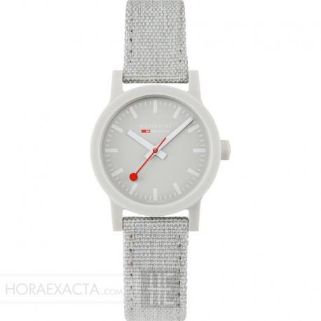 Reloj Mondaine SBB Essence White Caja Resina Correa Lona / Cork Lining 32 mm.