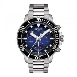 Reloj Tissot Seastar 1000 Chronograph Azul armis acero.
