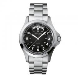 Reloj Hamilton Khaki Field King Auto Negro Armis. H64455133