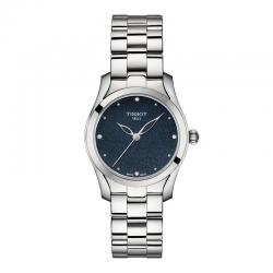 Reloj Tissot T-Wave Cuarzo Lady Azul Diamantes Armis 30 mm