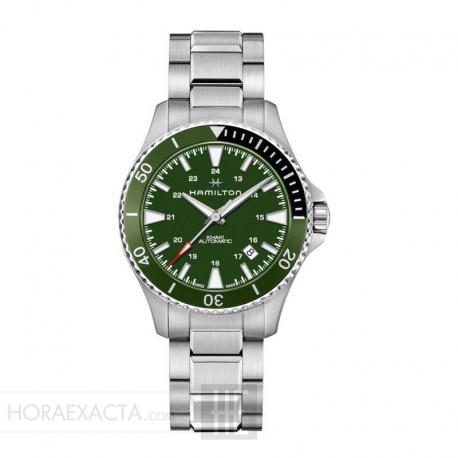 Reloj Hamilton Khaki Navy Scuba Auto Armis Verde 40 mm.