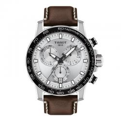 TISSOT SUPERSPORT CHRONO Gris Plata Piel Marrón. T125.617.16.031.00