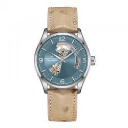 Reloj Hamilton Jazzmaster Open Heart Auto Azul H32705842