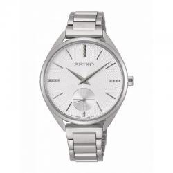 Reloj Seiko Lady Cuarzo Gris Plata Indices Armis Acero 35 mm. SRZK53P1