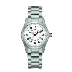 Reloj Hamilton Khaki Field Mechanical blanco armis 38 mm