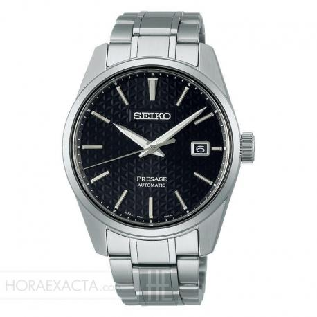 Reloj Seiko Sharp Edges esfera negra. SPB203J1
