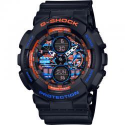 Reloj Casio G-Shock Negro Naranja azul Analógico Digital GA-140CT-1AER