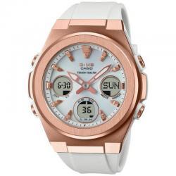 Reloj Casio msg Baby-G Analogico Digital Blanco Oro Rosa MSG-S600G-7AER