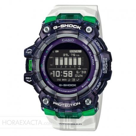 Reloj Casio G-Shock Bluetooth® Smart Blanco Lila Verde GBD-100SM-1A7ER