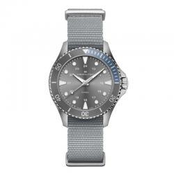 Reloj Hamilton Khaki Navy Scuba Quartz Grís Azul NATO 37 mm. H82211981