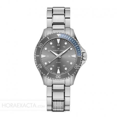 Reloj Hamilton Khaki Navy Scuba Quartz Grís Azul Armis 37 mm. H82211181