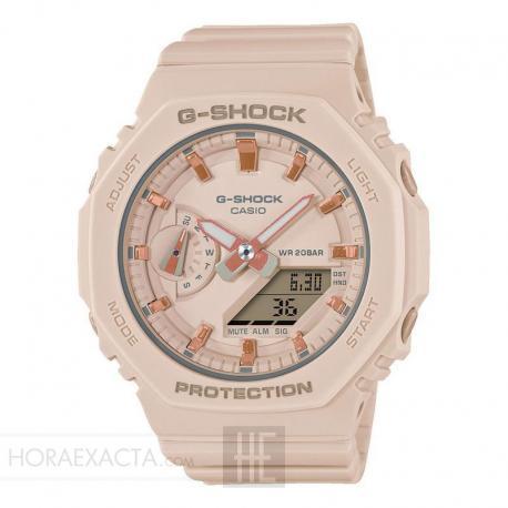 Reloj Casio G-Shock Crema Analógico Digital GMA-S2100-4AER