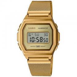 Reloj Casio Vintage Premium Nacar Milanesa Oro Amarillo A1000MG-9EF