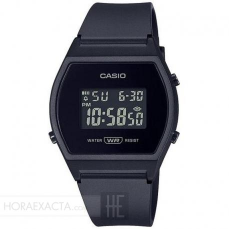 Reloj Casio Collection Digital Silicona Negro LW-204-1BEF