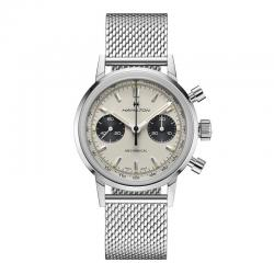 Reloj Hamilton American Classic Intra-Matic Chronograph H. Manual Blanco.