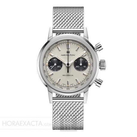 Reloj Hamilton American Classic Intra-Matic Chronograph H. Manual Blanco.