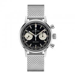 Reloj Hamilton American Classic Intra-Matic Chronograph H. Manual Negro.