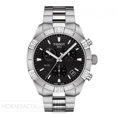 Reloj Tissot PR 100 Gent Sport Cuarzo CHRONOGRAPH Acero Negro 44mm.