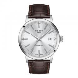 Reloj Tissot CLASSIC DREAM SWISSMATIC Gris Plata Piel Marrón