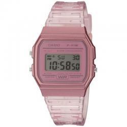 Reloj Casio Collection Digital Rosa Transparente F-91WS-4EF