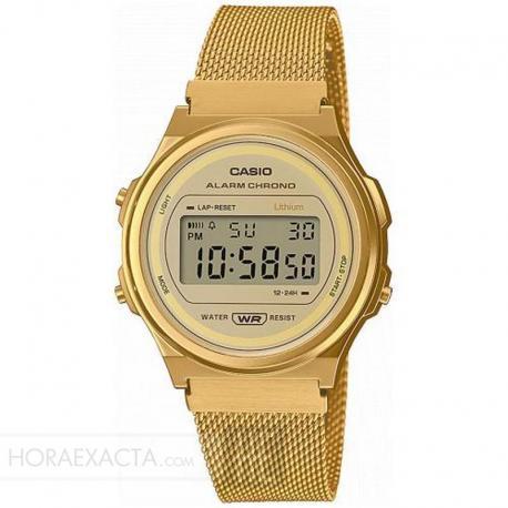 Reloj Casio Collection Digital Dorado Milanesa A171WEMG-9AEF