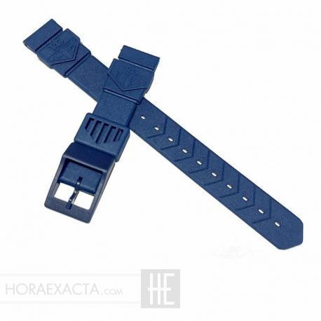 Correa TAG Heuer F1 caucho azul primera edición 18mm.
