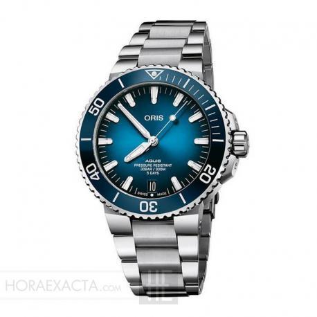 Reloj Oris Aquis Date Calibre 400 Azul 41 mm