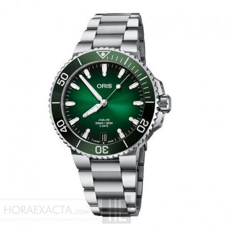 Reloj Oris Aquis Date Calibre 400 Verde 41 mm