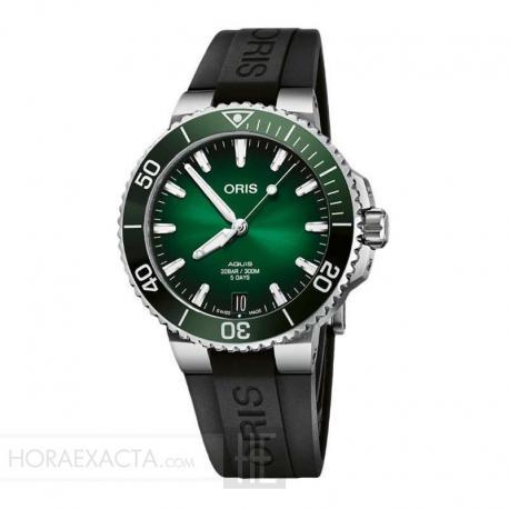 Reloj Oris Aquis Date Calibre 400 Verde Caucho 41 mm