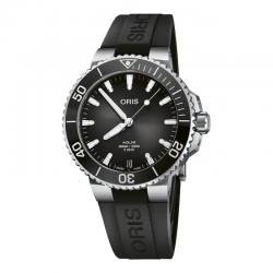 Reloj Oris Aquis Date Calibre 400 Negro Caucho 41 mm
