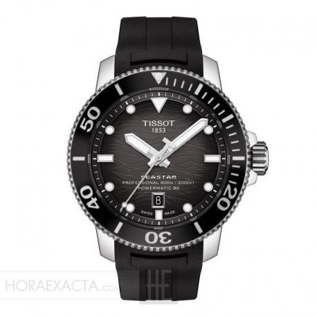 Reloj Tissot Seastar 2000 Professional Powermatic 80 Caucho negro.
