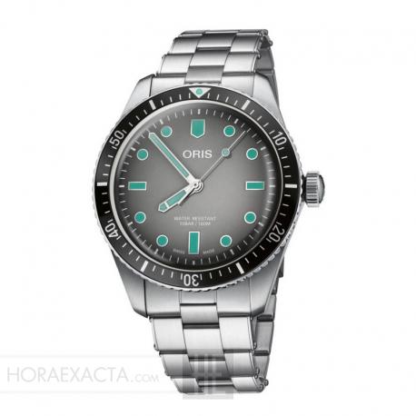 Reloj Oris Diver Sixty Five Automático Indices verdes armis acero.