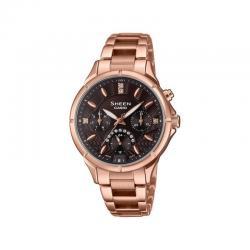 Reloj Casio Sheen PVD Oro Rosa Armis Swarovski Xocolat . SHE-3047PG-5AUER