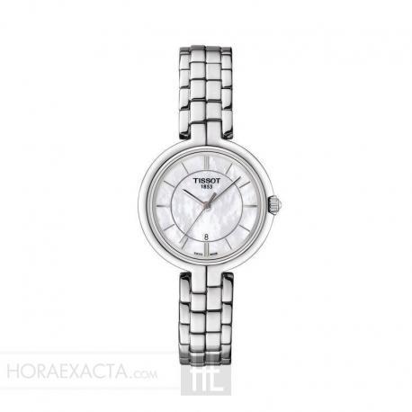Reloj Tissot Flamingo Nacar Blanco Armis Acero. T094.210.11.111.00