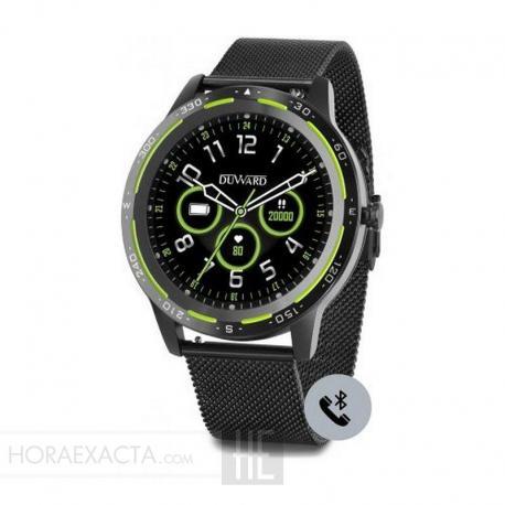 Reloj Duward Smart Redondo Milanesa Negra. Función Teléfono. DSW003.33