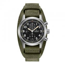 Reloj Hamilton Khaki Field Auto Auto Chrono Piel Verde 44 mm. H71706830