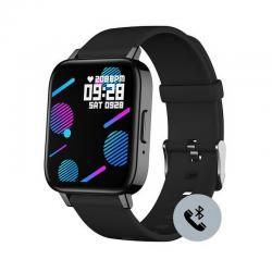 Reloj Duward Smart Rectangular Silicona Negra. Función Teléfono. DSW004.02
