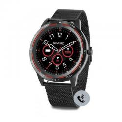 Reloj Duward Smart Redondo Milanesa Negra. Función Teléfono. DSW003.34