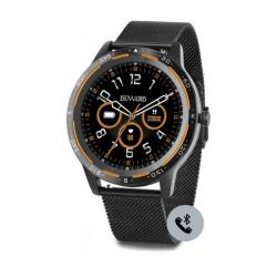 Reloj Duward Smart Redondo Milanesa Negra. Función Teléfono. DSW003.38