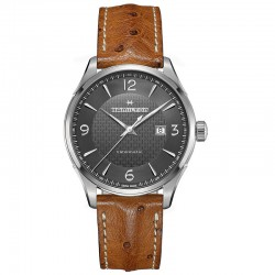 Reloj Hamilton Viewmatic Auto Negro Piel Marrón